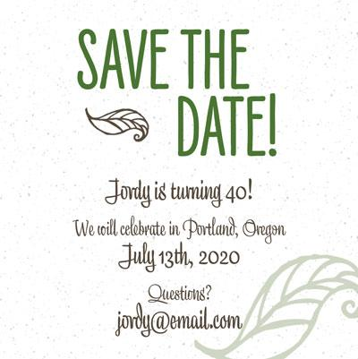 InDesign Template of the Month: Invitation