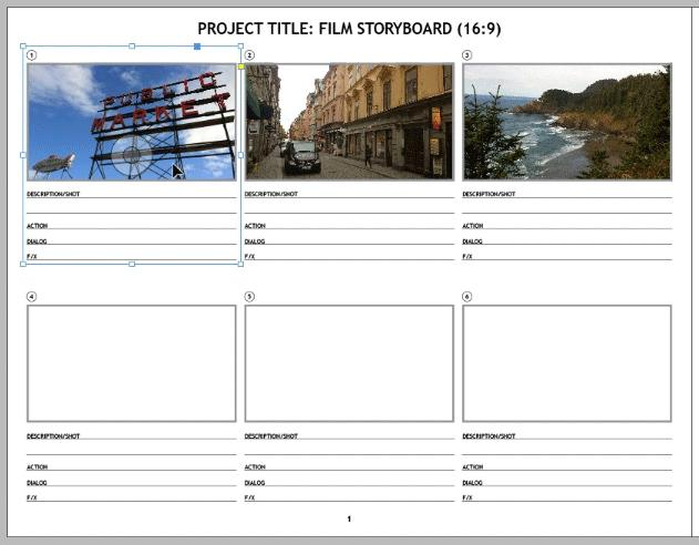 InDesign Template of the Month: Storyboard