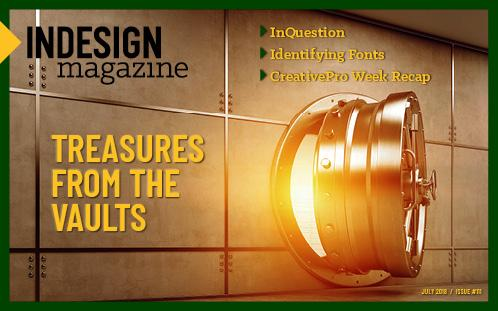 InDesign Magazine Issue 111: Treasures From the Vaults