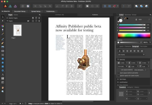 Affinity Publisher: First Look