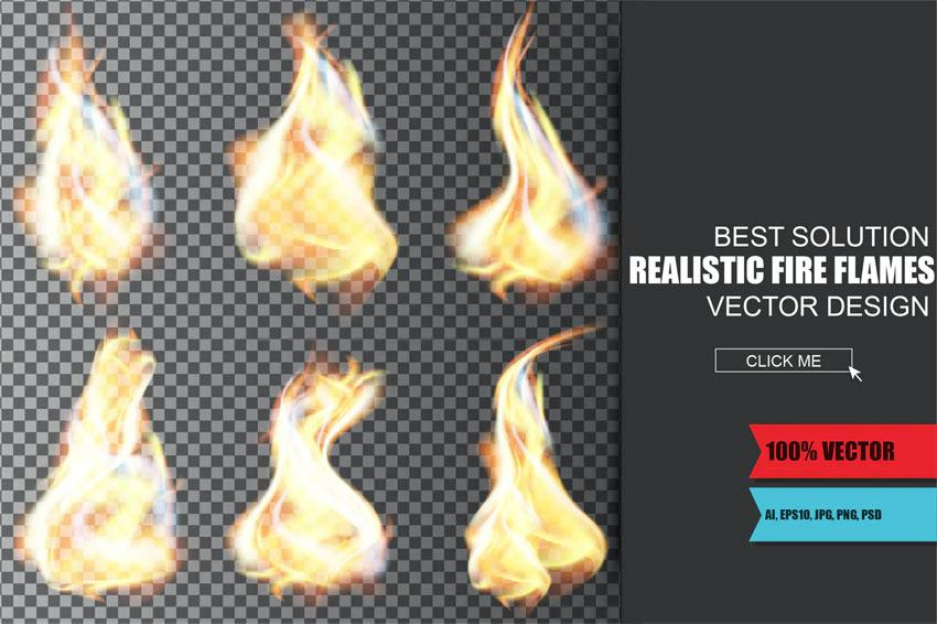 Create a Burning Vector Match Using Gradient Meshes