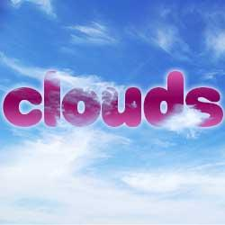 How To Blend Text Into Clouds With Photoshop